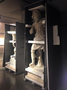 Statue of Odysseus arrives in Basel. Photo Andrea Bagniacai, Antiquities Museum