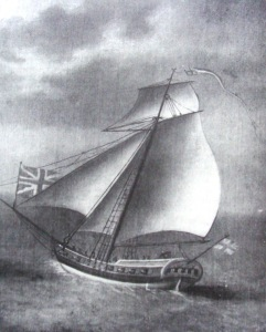 Bermuda Sloop under sail from an old print. Image: Hosea.blogspot.com
